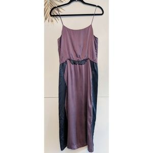 [Cynthia Rowley] Purple Silk Slip Dress